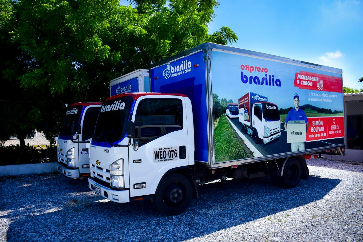 Expreso Brasilia posee una flota especial de vehículos para el servicio de carga y mensajería.