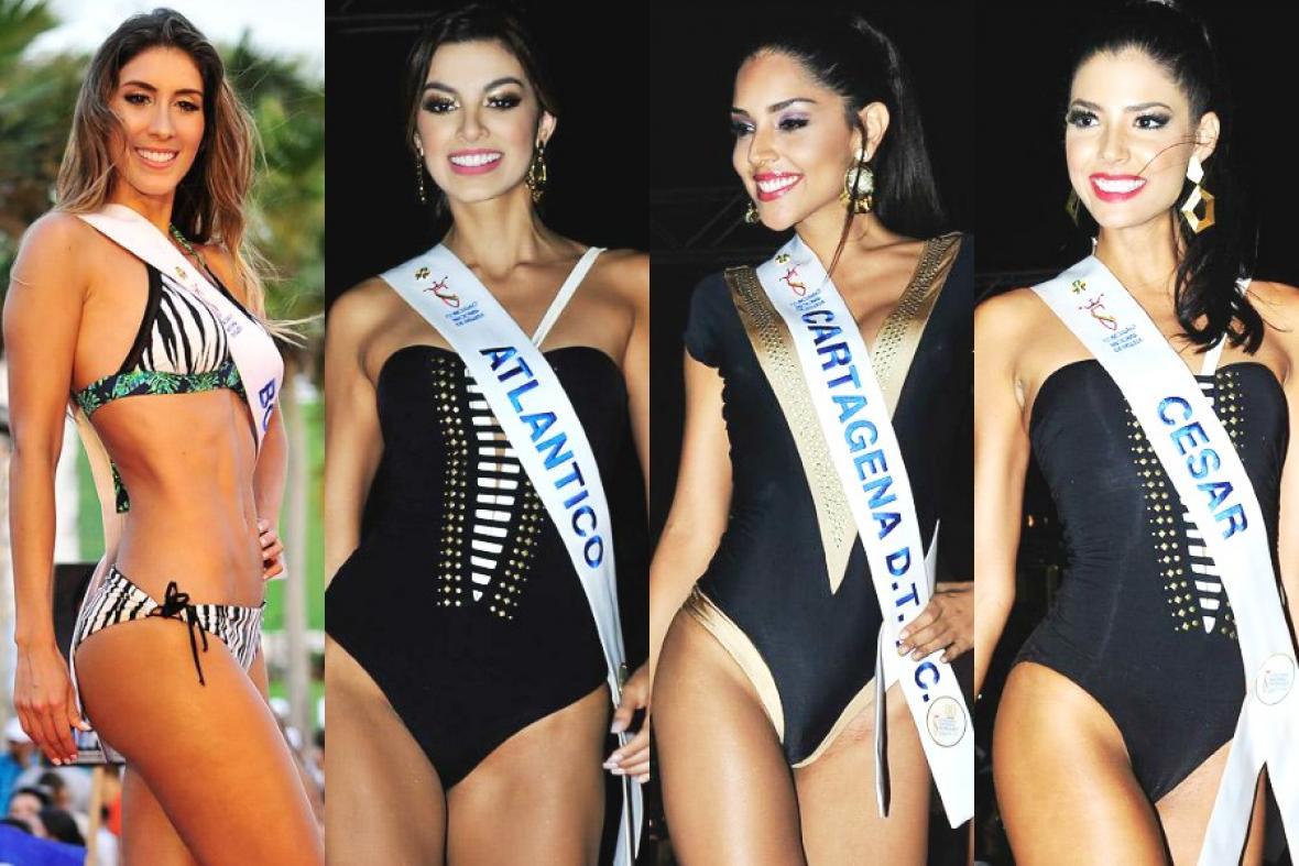De izquierda a derecha: Laura Barbosa (Bolívar), 'Tica' Martínez (Atlántico), Laura González (Cartagena) y Anabella Castro (Cesar).