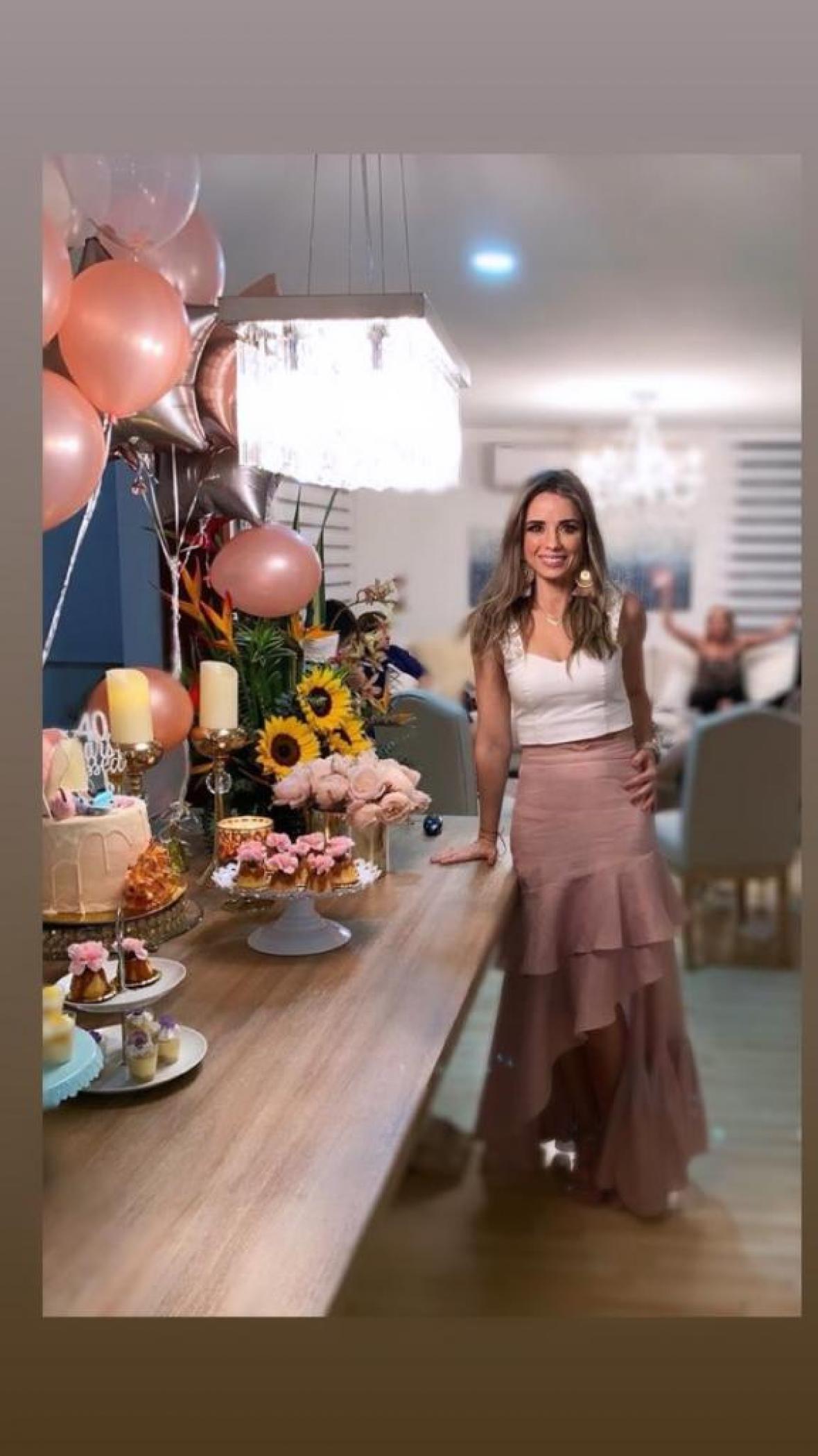 Carmen Rojas en su cumpleaños número 40.