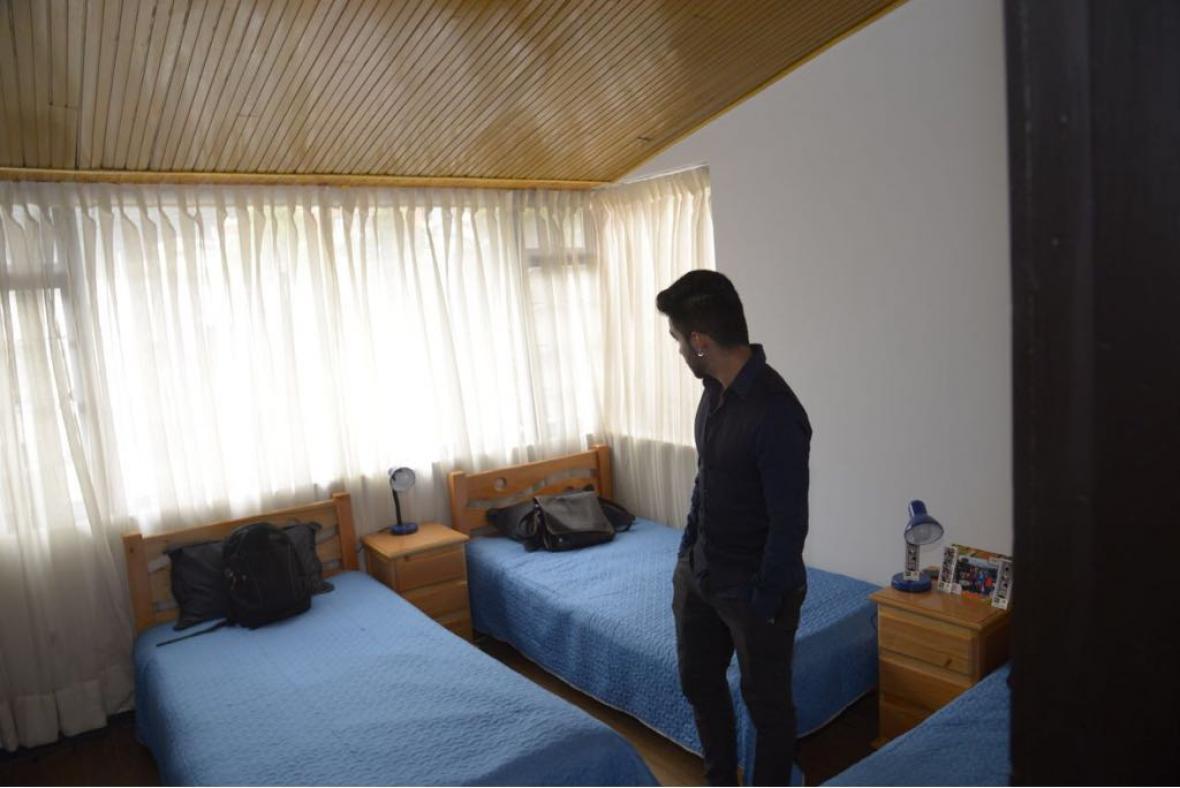 Uno de los dormitorios de la Casa Universitaria del ICBF.