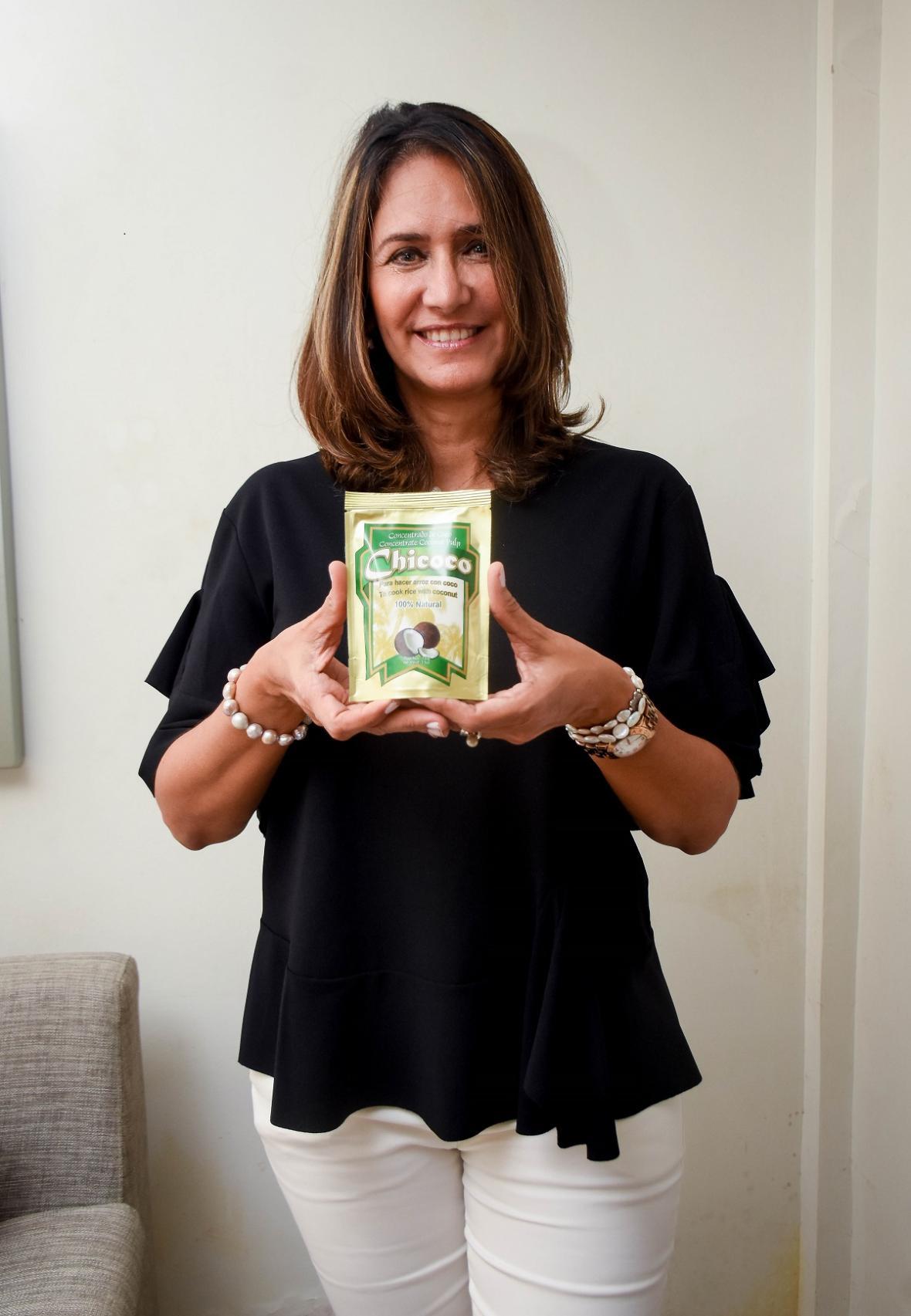 Soraya Gómez Díaz, emprendedora con la marca De la palma Chicoco.