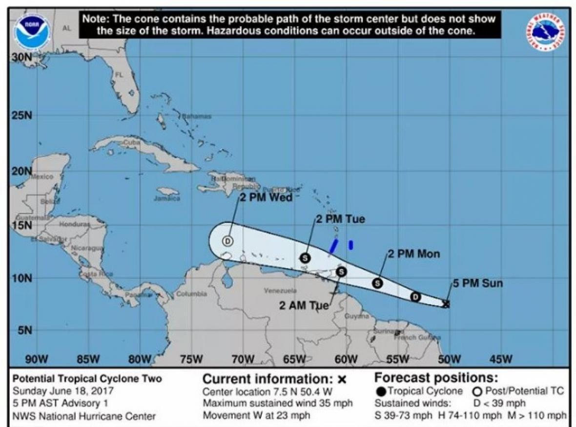 Inameh declara alerta naranja por tormenta tropical