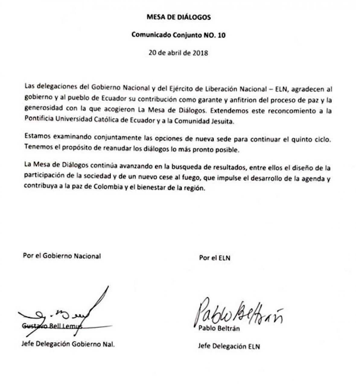 Cuatro países se ofrecen como sede de los diálogos Gobierno-Eln | El ...