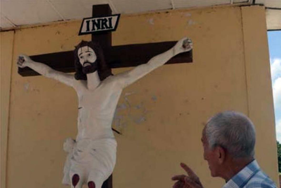 El Cristo de las Ánimas que se encuentra en el cementerio.