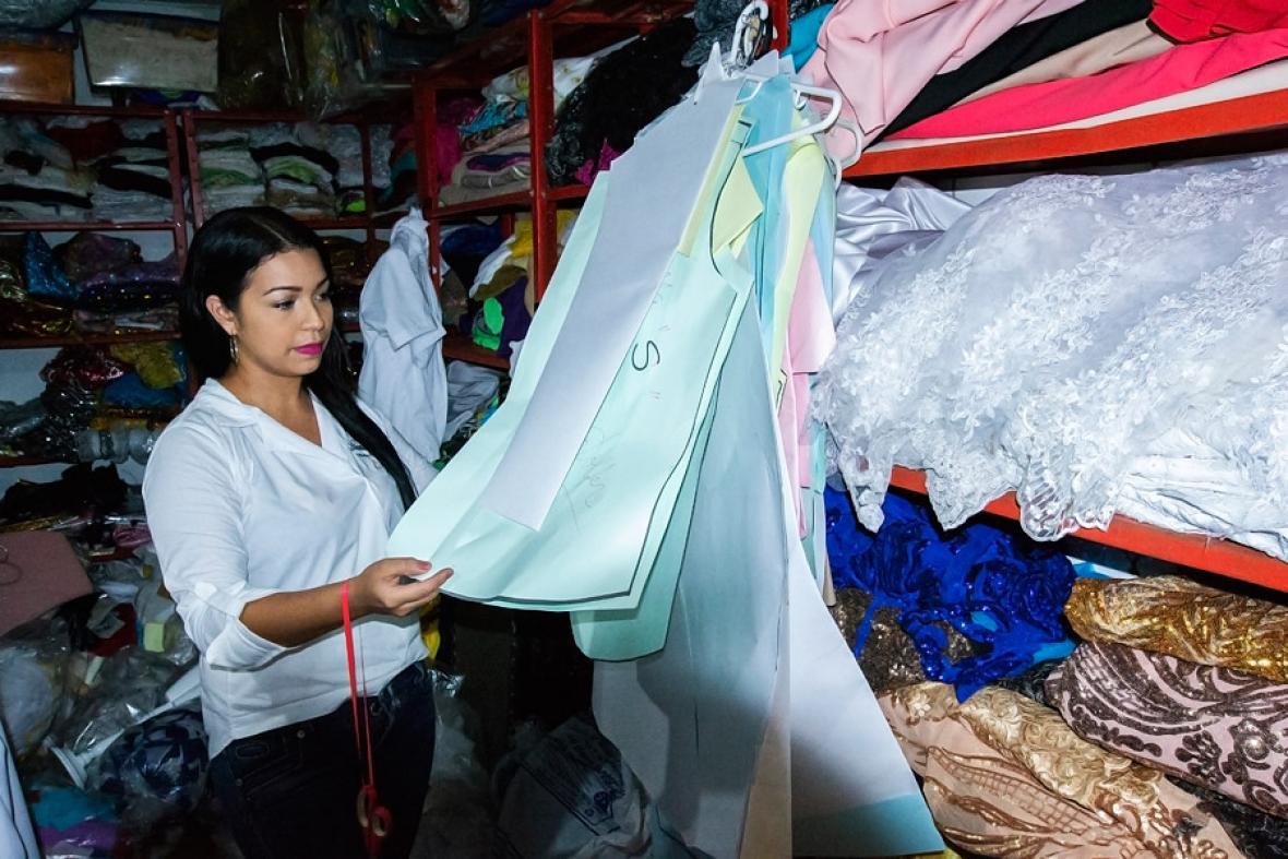 Natalia Ospina, estudiante de Diseño de Modas, es uno de los 120 trabajadores que acompañan a Diana.