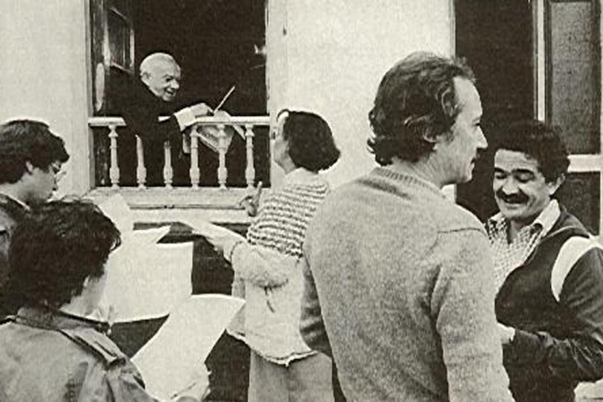 Durante la grabación de 'Don Chinche'.