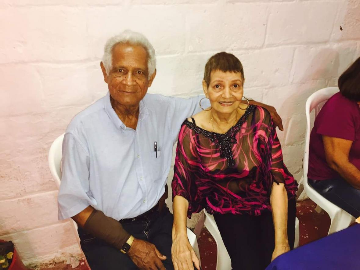 Polo y su esposa Yolanda González Rico.