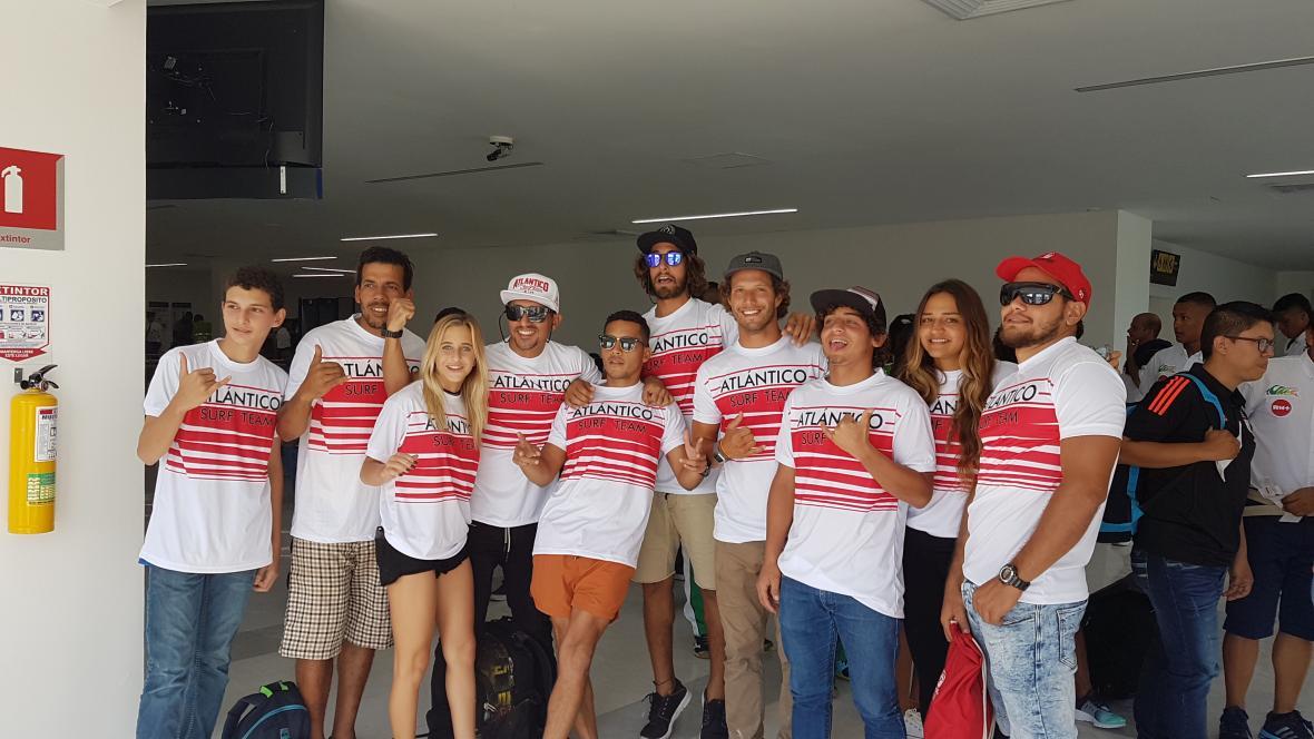 La delegación de Atlántico en los Juegos de Mar y Plaza que se realizaron en Tumaco, Nariño.