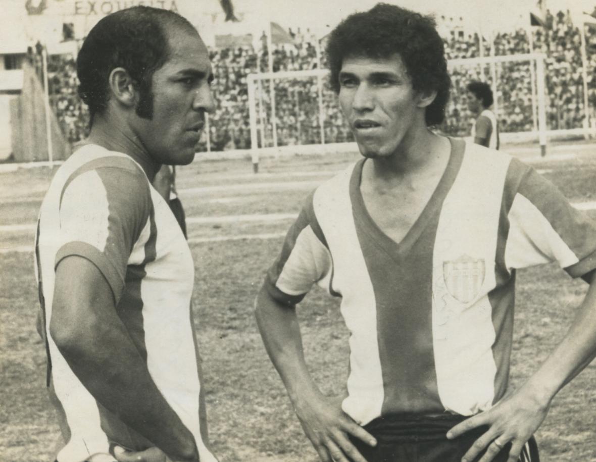 Jesús 'El Toto' Rubio y Óscar Bolaño, dos jugadores históricos del Junior.
