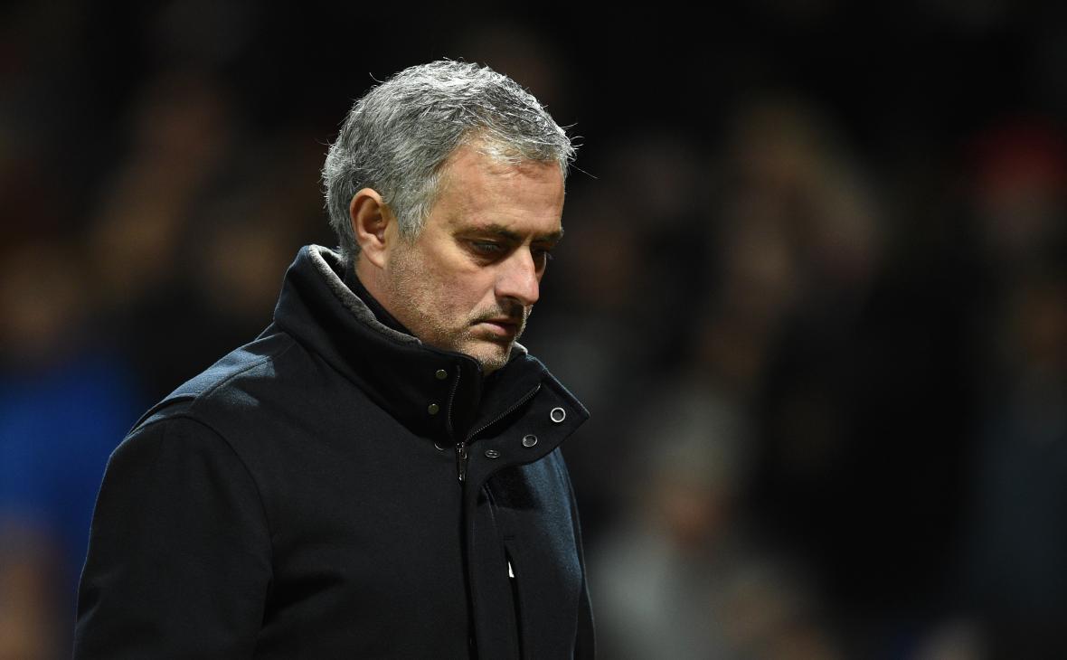 La tristeza de José Mourinho por la eliminación del Manchester United.
