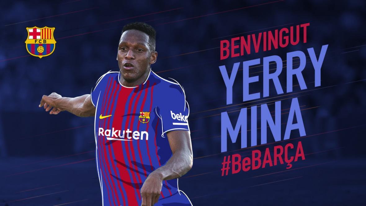 La 24 del Barcelona tiene nuevo nombre  Yerry Mina  0c82a7820c5