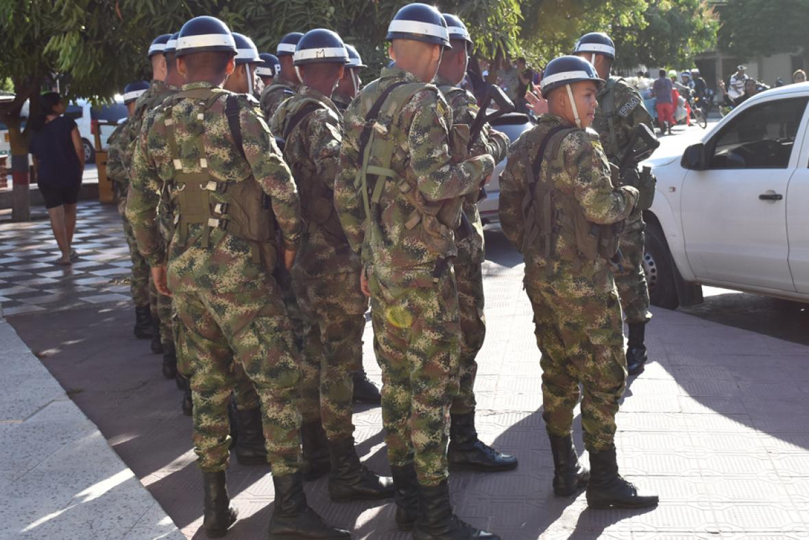 Agentes de la Policía Militar hicieron presencia.