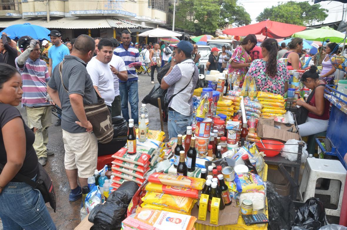 En el municipio se consiguen productos venezolanos.