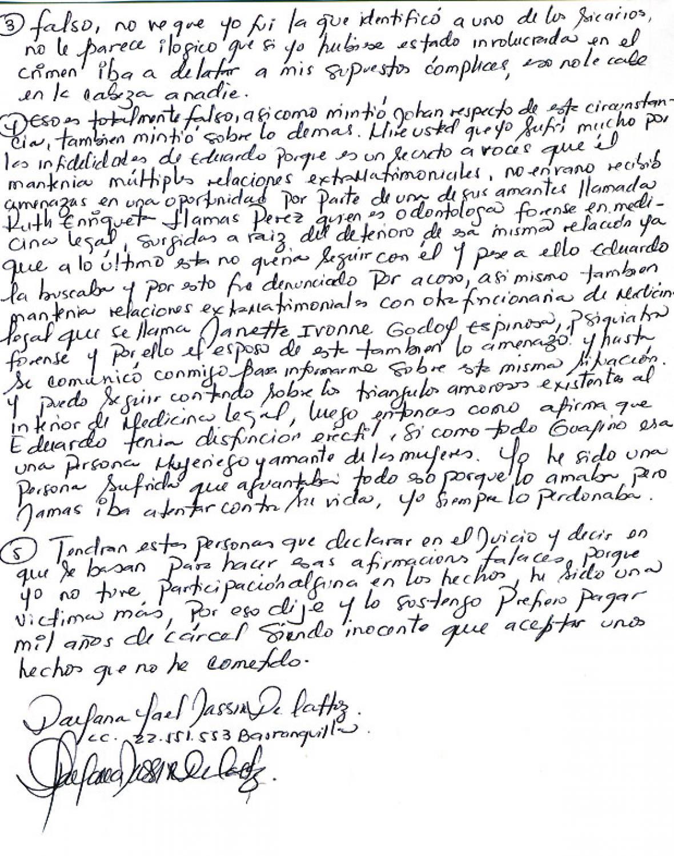 Parte de las respuestas de Jassir a EL HERALDO.