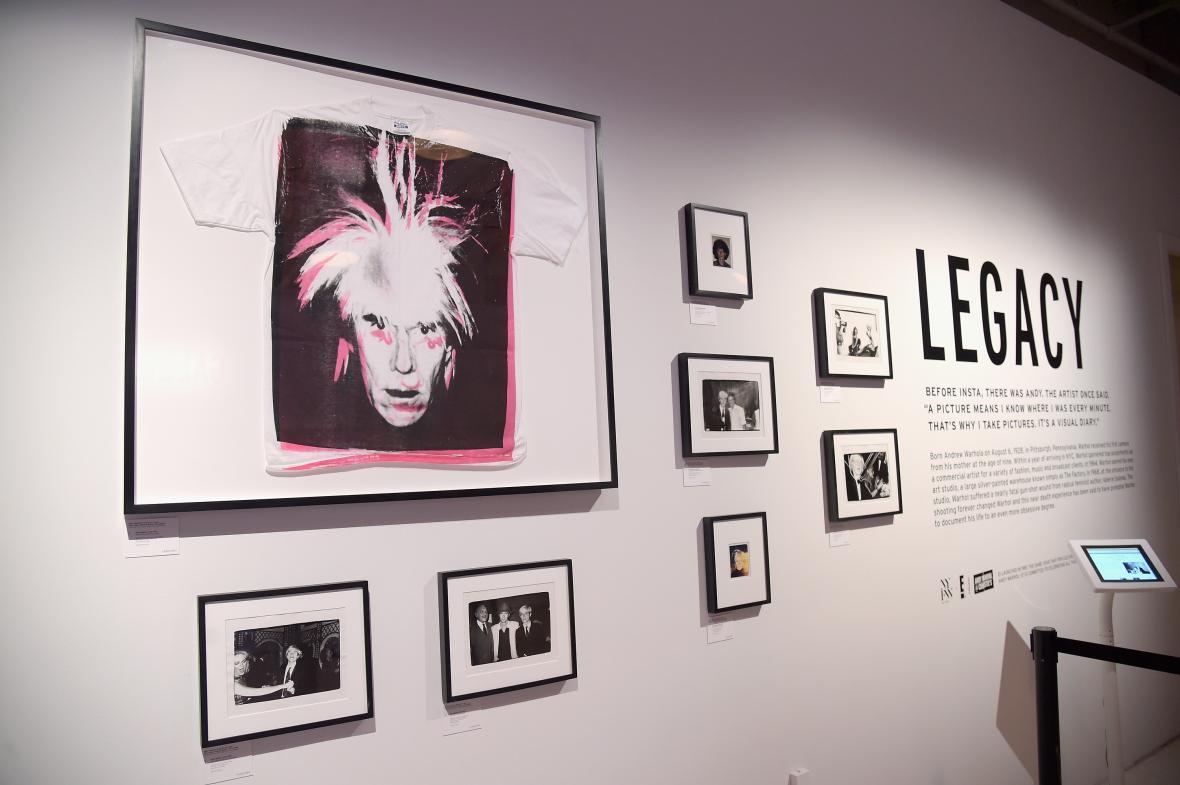 Exhibición de las obras de Andy Warhol en Nueva York.