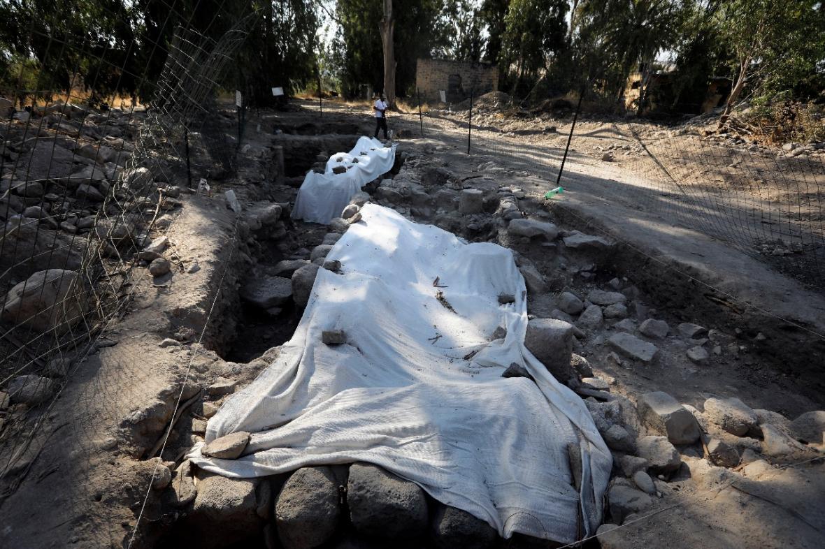 Fotografía del sitio donde se realiza la excavación arqueológica.