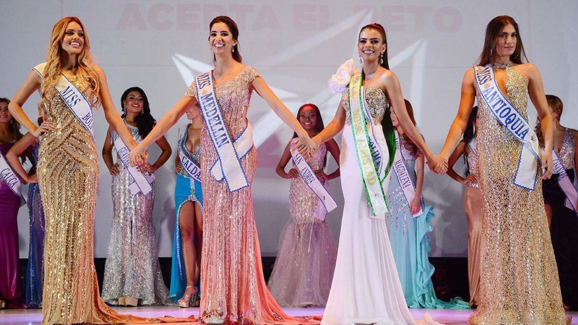Las cuatro finalistas del Miss Mundo Colombia 2018.