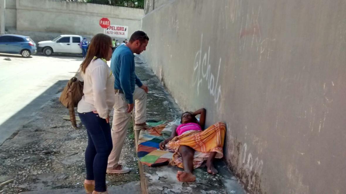 En esta zona de la Vía 40, fue rescatada Sonia Montoya en estado de desnutrición.