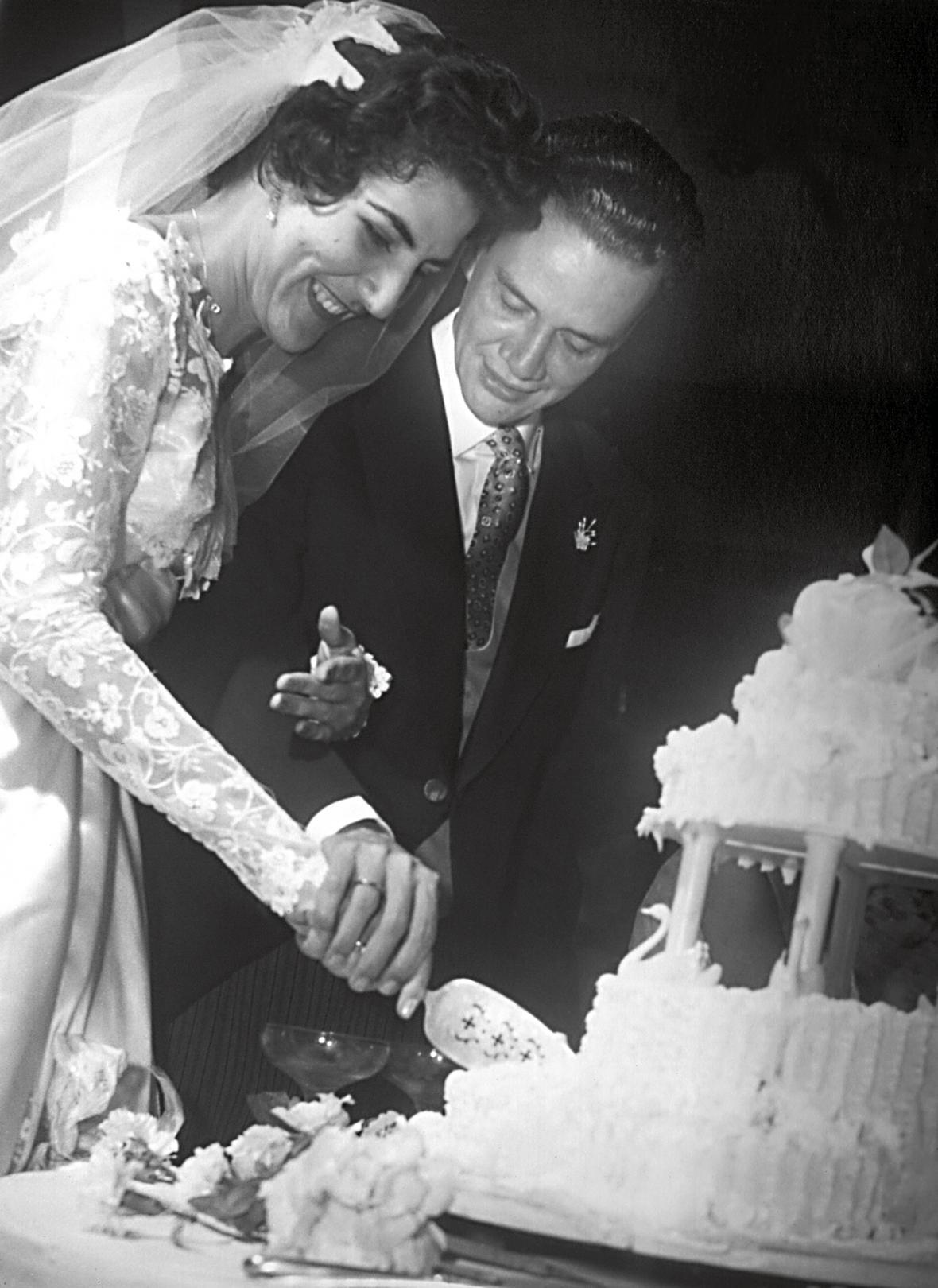 Garmán Vargas Cantillo y Susie Linares Ruiz en su boda, el 6 de enero 1956.