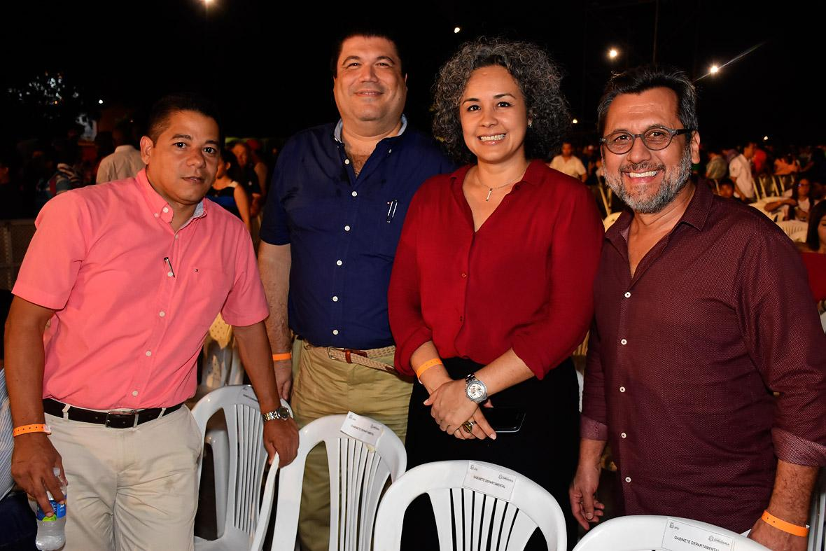 Álvaro Bolaño, Franco Fiorentino, Ruby Rubio y Roberto Duarte.