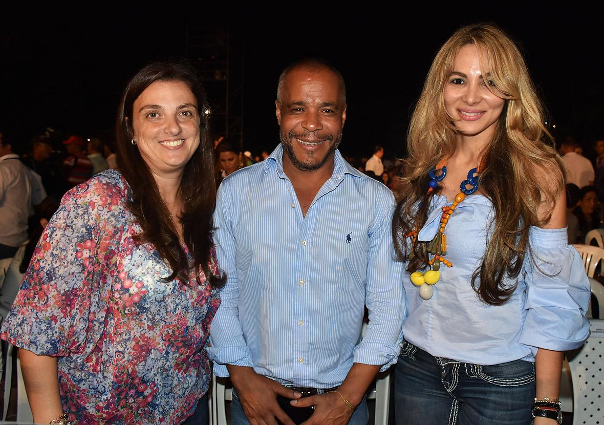 Karen Abudinén, Ricardo Villa y Ana María Aljure.