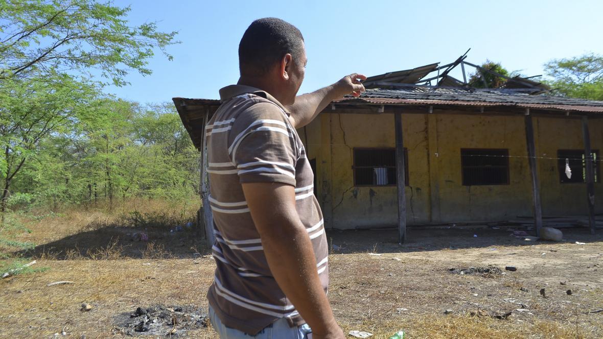 La hacienda en la que trabajó Alejo hoy está en ruinas, muy distante de lo productiva que fue otrora.