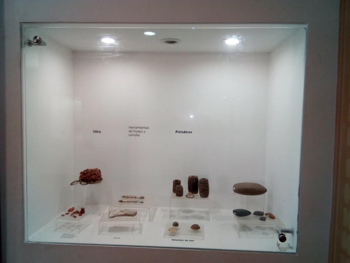 Piezas del museo de arqueología de Villa Rosa.