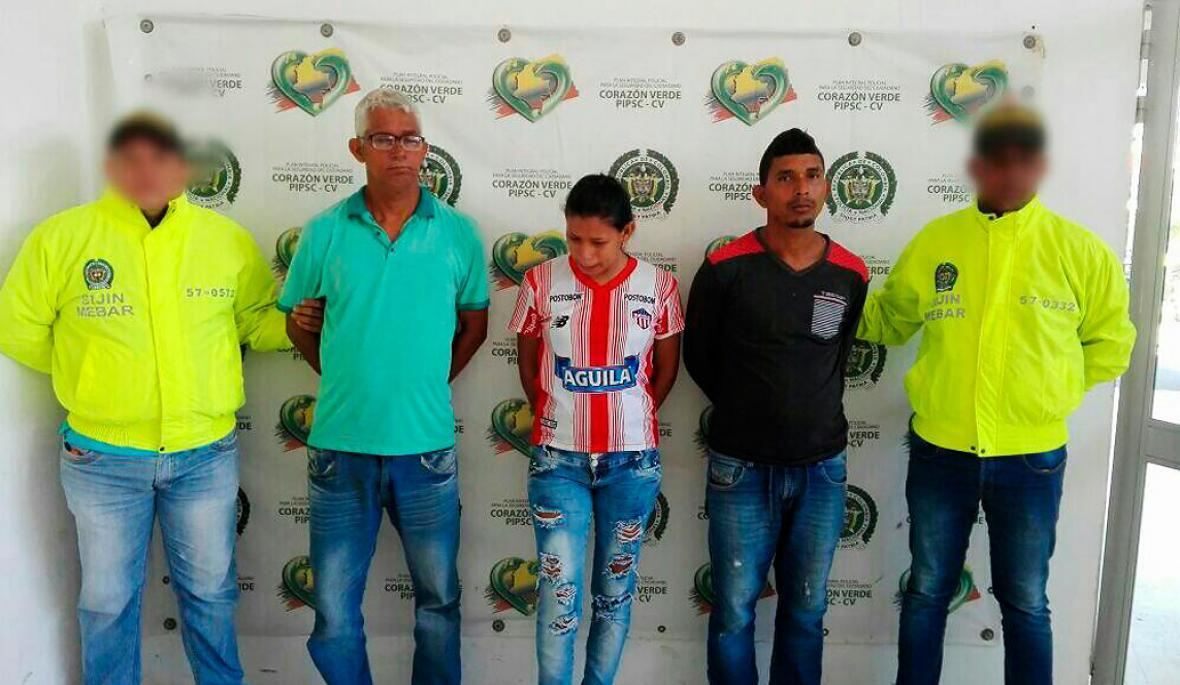 Apolinar, Wendy y Jhonathan Marchena.