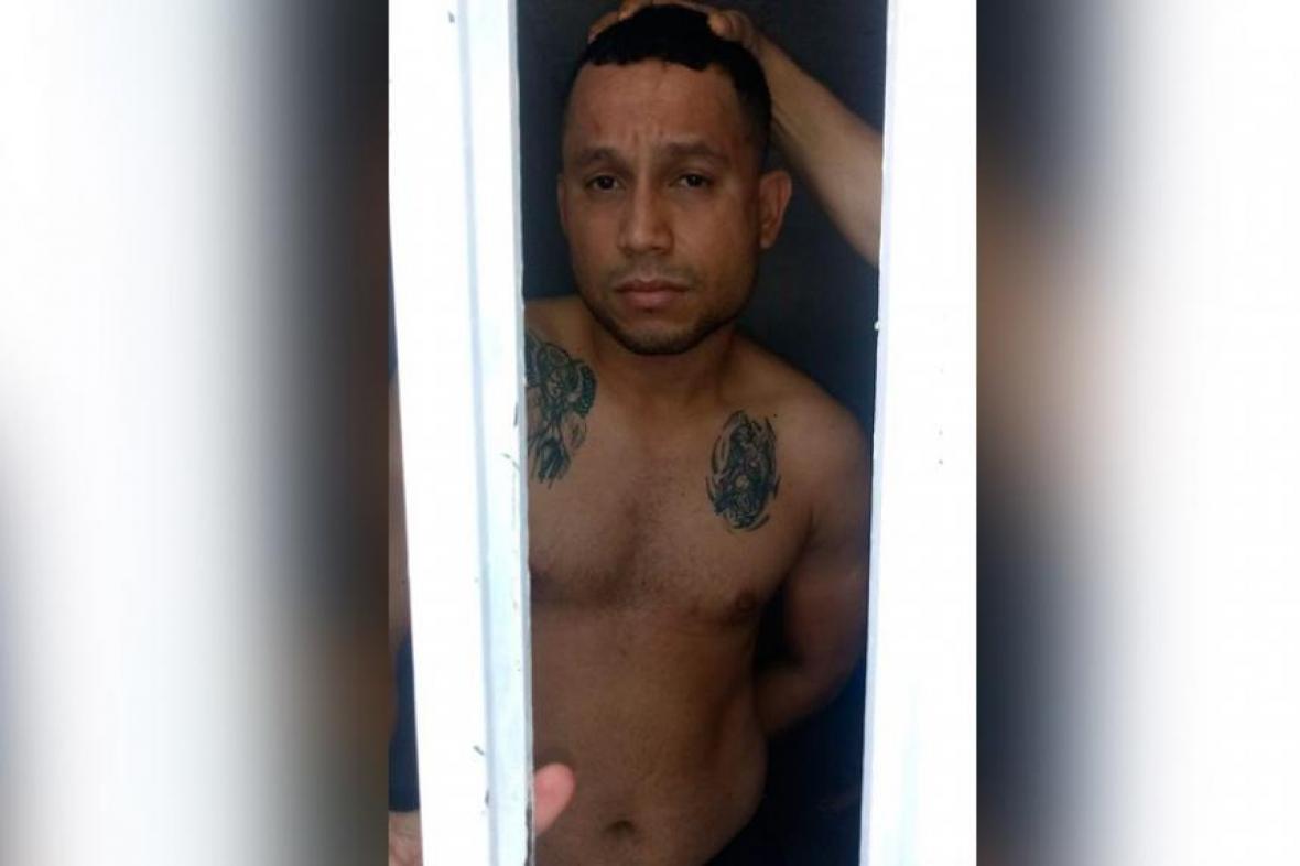La foto que le tomaron en la cárcel de Valledupar.