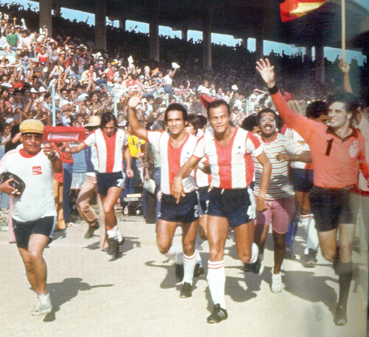Aguilar (en el círculo) en la celebración del título.