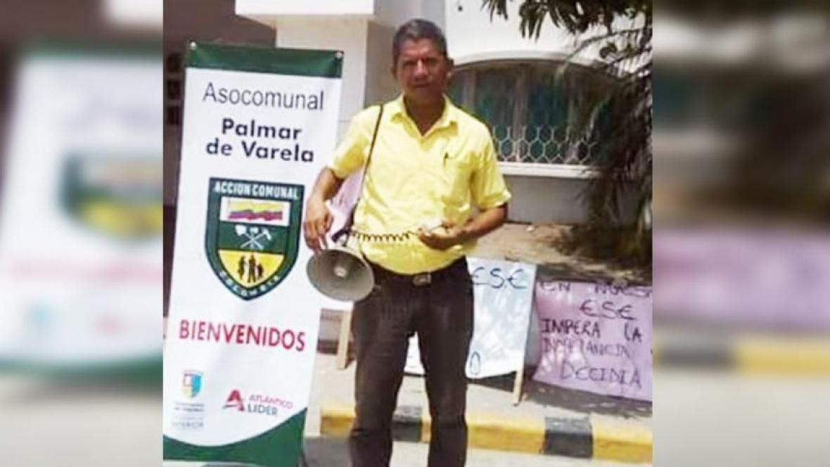 Luis Cuarto Barrios Machado, líder social asesinado.