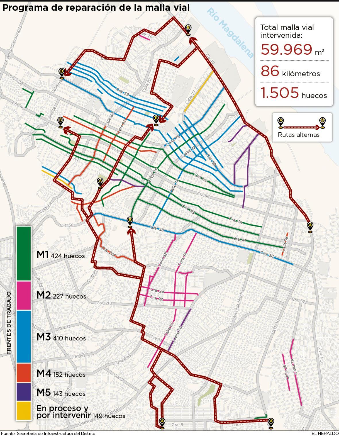 Barranquilla: mapa de obras viales y cómo evitar los ...