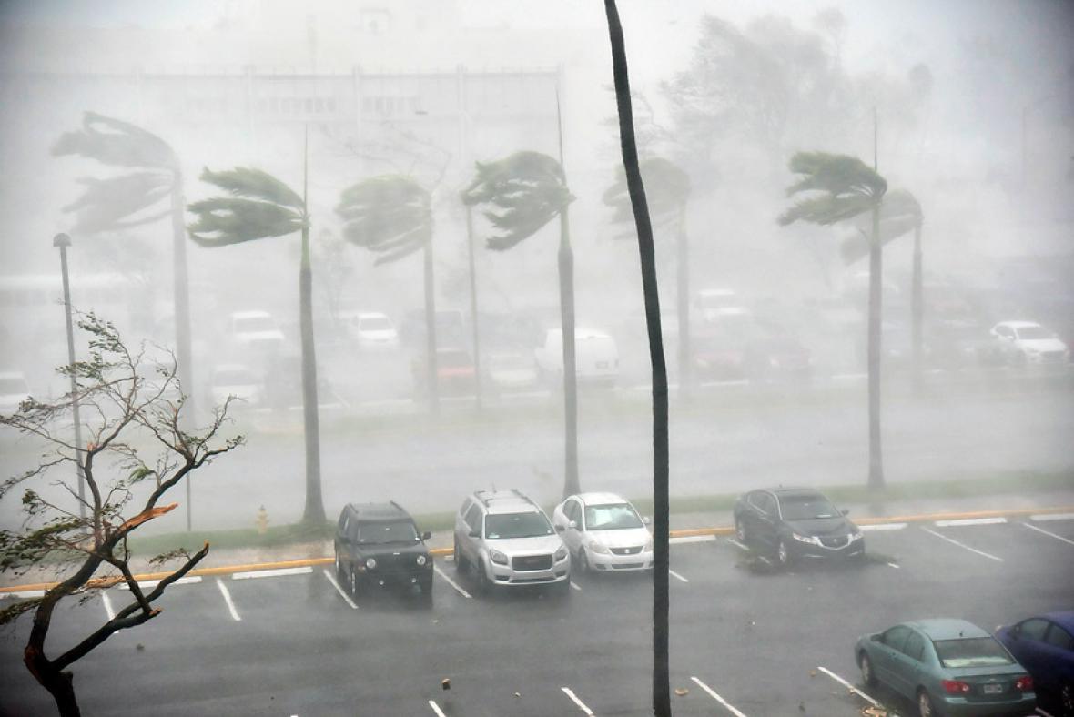 Paso del huracán María por Puerto Rico.