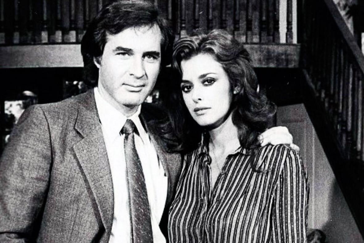 Rogelio Guerra y la también actriz Lucía Méndez.