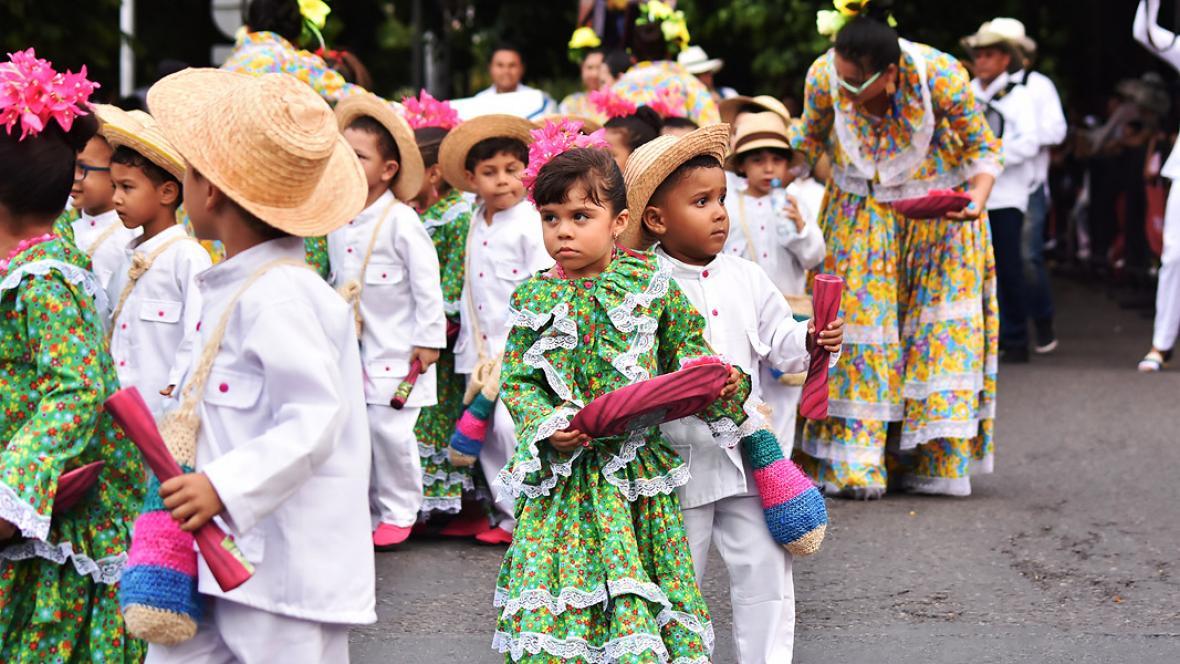 Los niños demostraron que la tradición sigue viva.