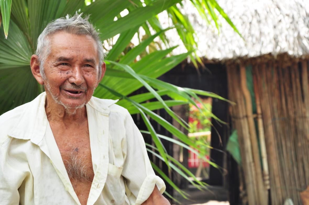 Pablo Vicente, hijo del gran pitero Pablo Domínguez.