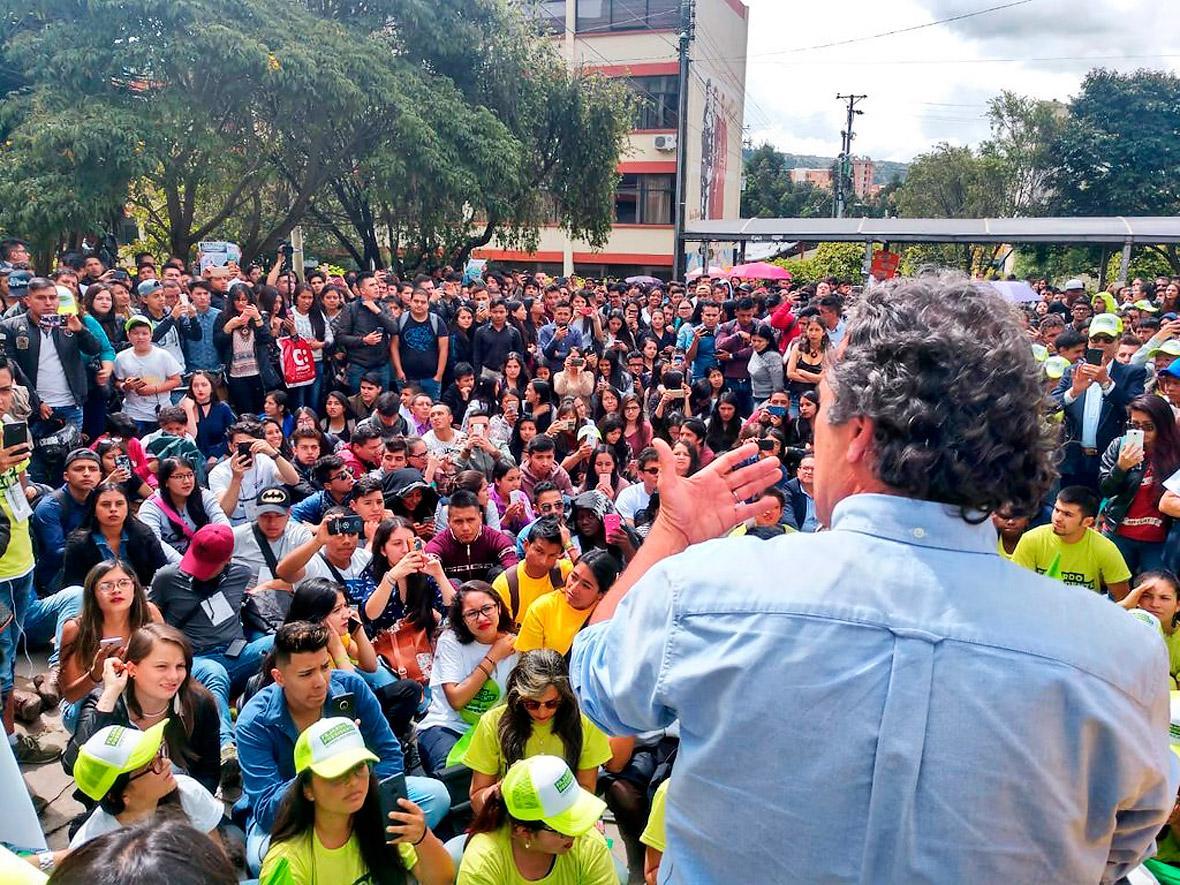 Sergio Fajardo, de la Coalición Colombia, en Pasto.