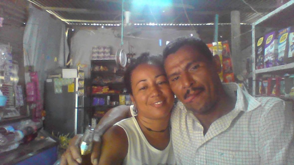 Una foto de la pareja antes de la agresión.