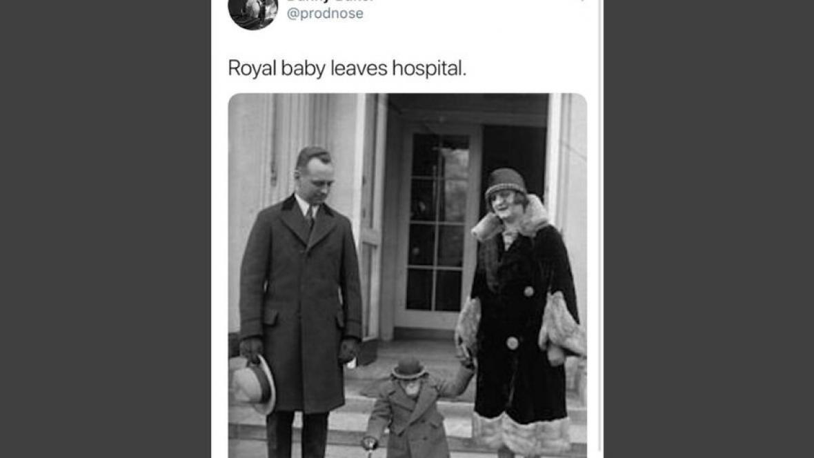 BBC despide a presentador que comparó al bebé real con un mono
