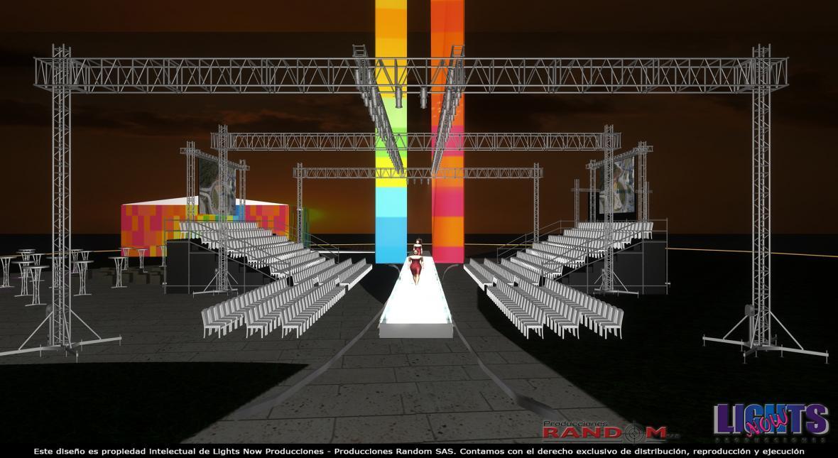 Treinta metros de largo, aproximadamente, tendrá la pasarela inaugural, según las organizadoras.