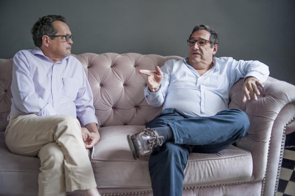 El rector de la Universidad del Norte, Adolfo Meisel Roca, durante la entrevista con el director de EL HERALDO, Marco Schwartz Rodacki.