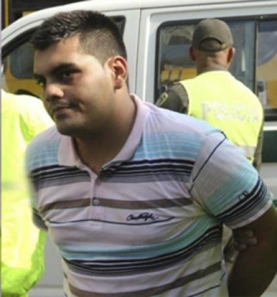 Keiner de Jeús Solano Menahen cuando fue capturado en noviembre de 2013.