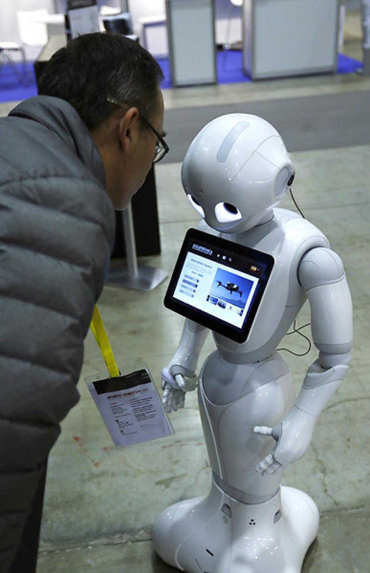 Uno de los robots expuestos en Madrid.