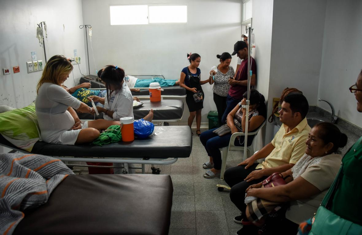 Un cuarto del hospital de Sabanalarga.