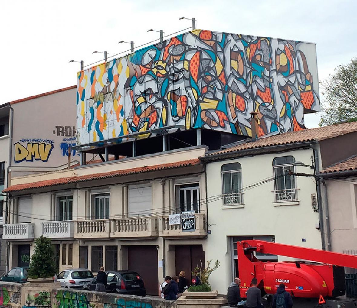 Grafiti de Rezo, en Montpellier, sur de Francia.