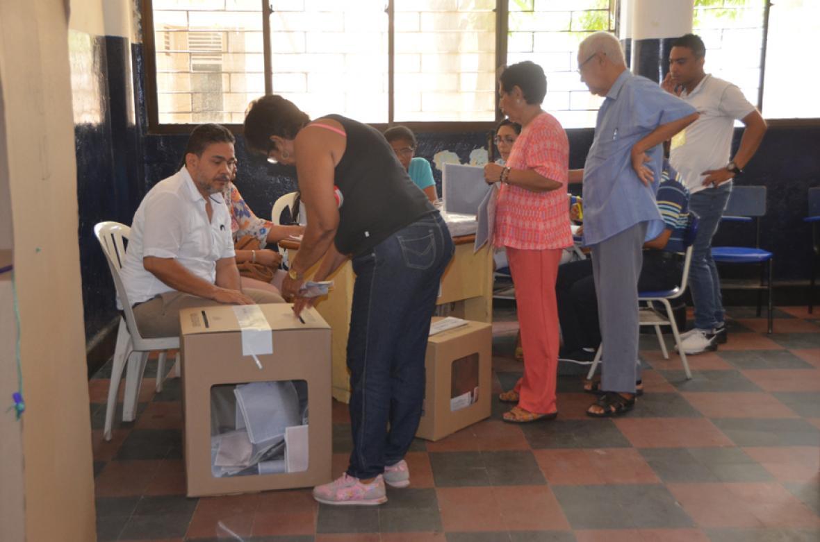 En Santa Marta no se presentó ninguna clase de inconveniente en los puestos.