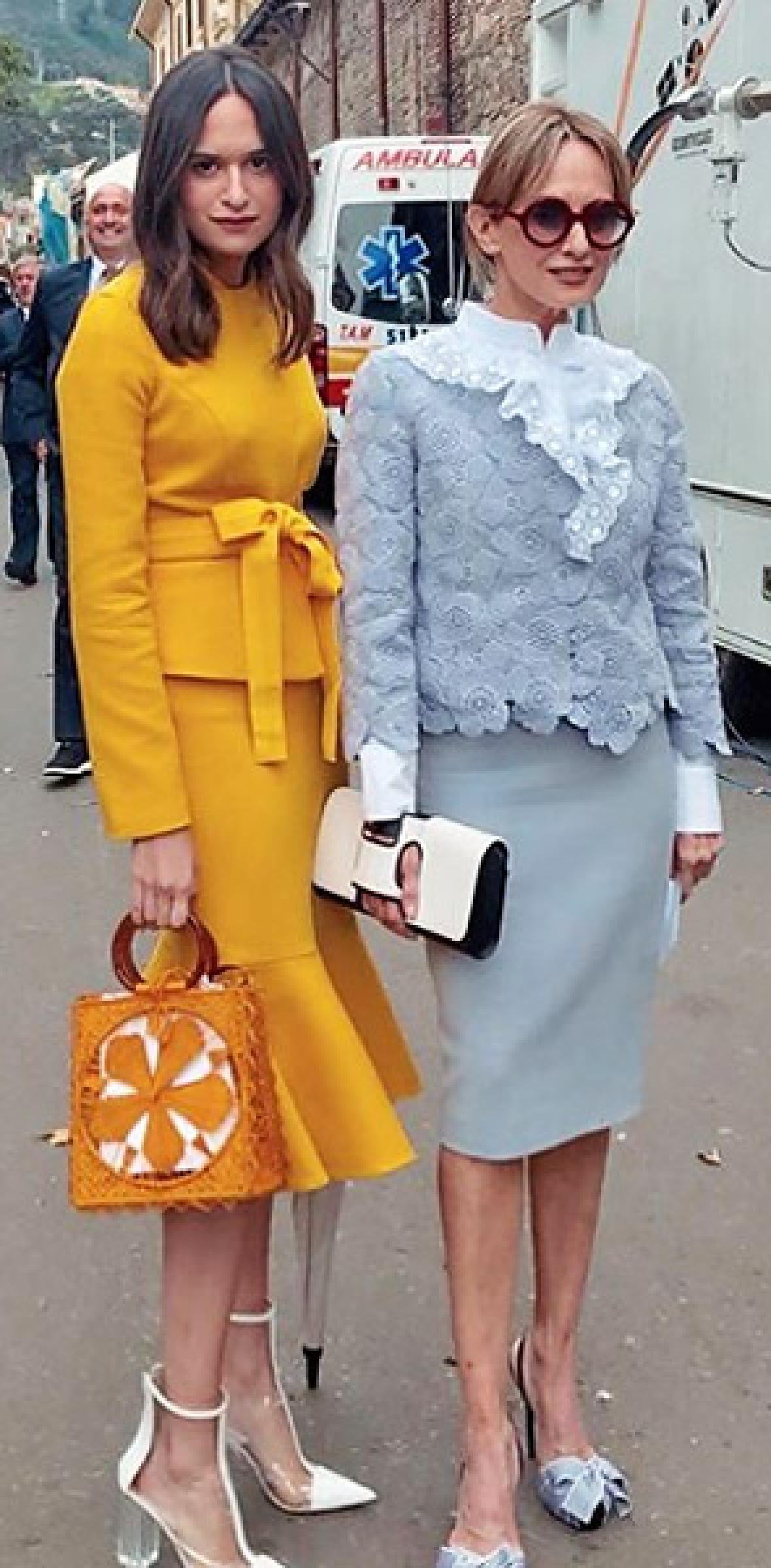 Silvia Tcherassi y su hija Sofía Espinosa.