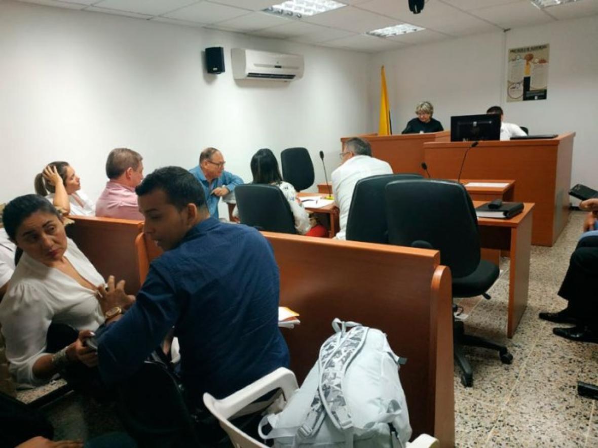 Audiencia en el Juzgado Primero de Valledupar.