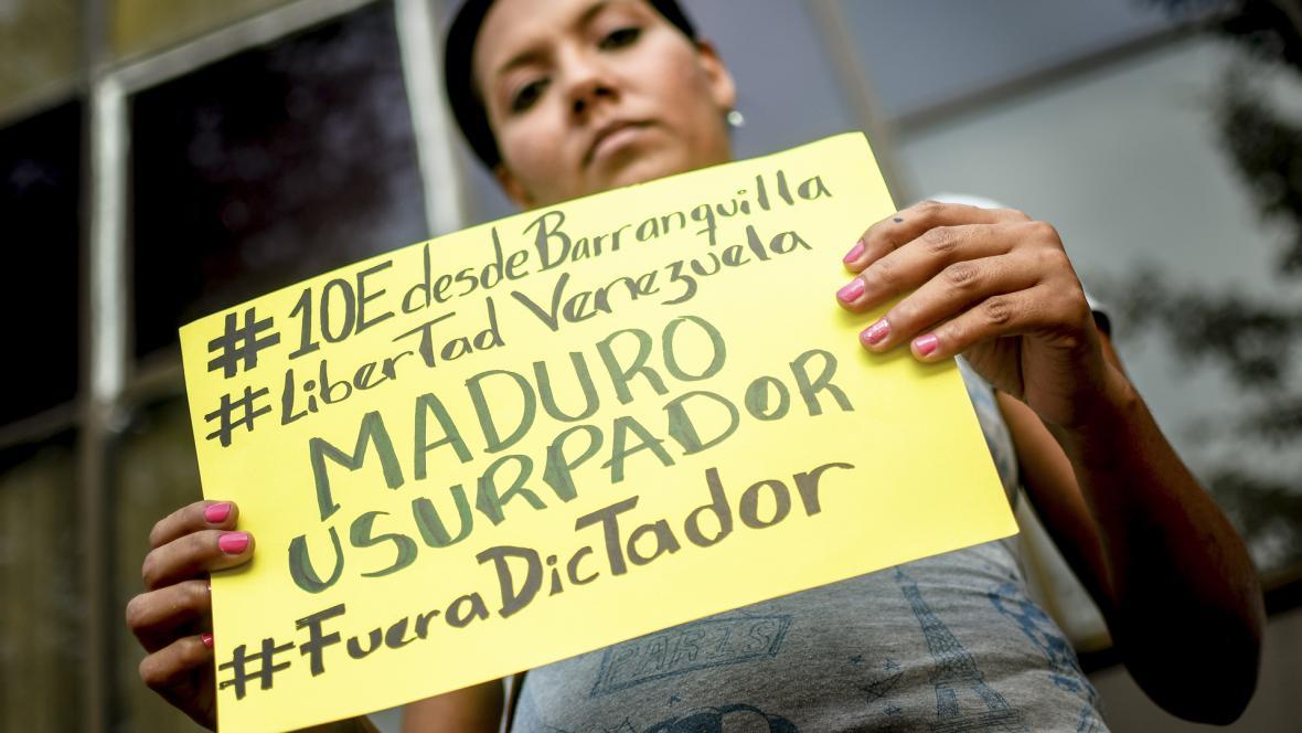 Uno de los mensajes para el presidente Nicolás Maduro.