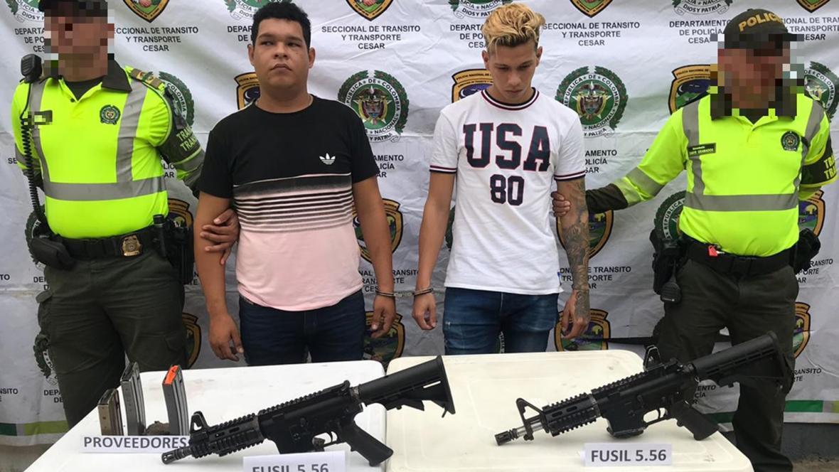 Pedro Acosta y José Gómez capturados en Valledupar.